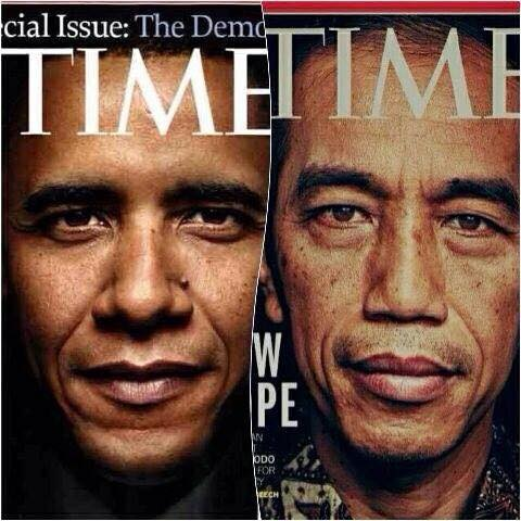 Cover Time Obama Jokowi