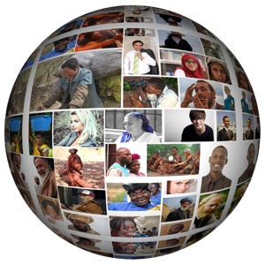 globe mosaic 300